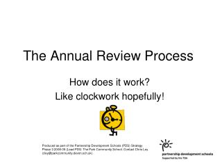 The Annual Review Process