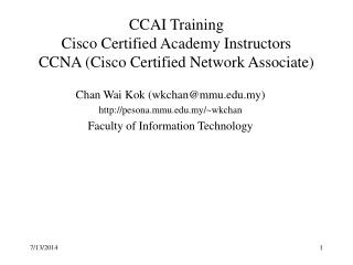 CCAI Training Cisco Certified Academy Instructors CCNA (Cisco Certified Network Associate)