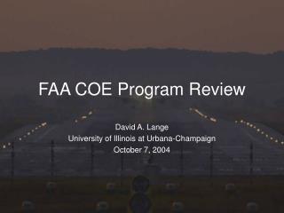 FAA COE Program Review