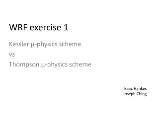 WRF exercise 1