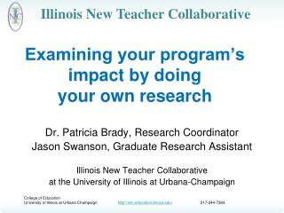 Examining your program's impact by doing  your own research