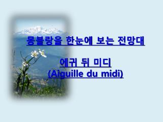 몽블랑을 한눈에 보는 전망대 에귀 뒤 미디 (Aiguille du midi)