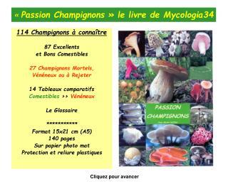 « Passion Champignons» le livre de Mycologia34