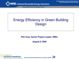 Energy Efficiency in Green Building Design