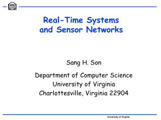 Real-Time Systems  and Sensor Networks