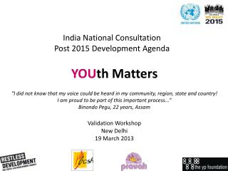 India National Consultation  Post 2015 Development Agenda