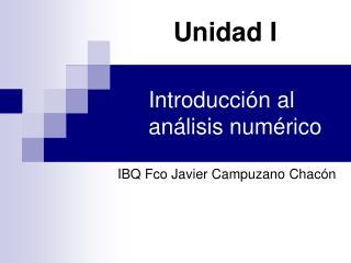 Introducción  al análisis numérico