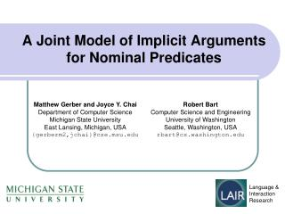 A Joint Model of Implicit Arguments for Nominal Predicates