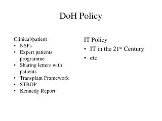 DoH Policy