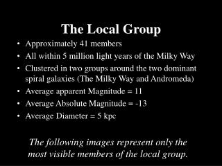 The Local Group