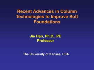 Recent Advances in Column Technologies to Improve Soft Foundations