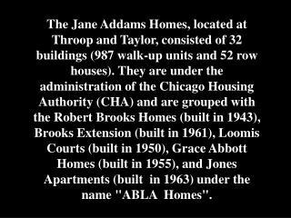 """Animal  Court"" - Jane Addams Homes - 2003"