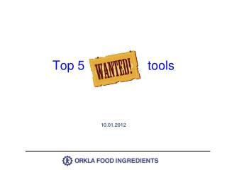 Top 5                  tools