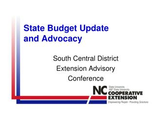 State Budget Update  and Advocacy