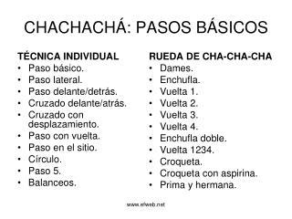 CHACHACH�: PASOS B�SICOS