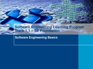 Software Engineering Learning Program Track 1.1 – SE Foundation