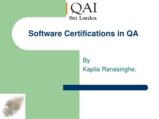 Software Certifications in QA