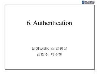 6. Authentication