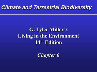 Climate and Terrestrial Biodiversity