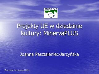 Projekty UE w dziedzinie kultury: MinervaPLUS