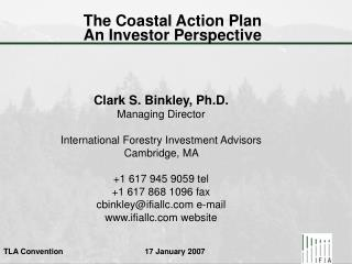 The Coastal Action Plan   An Investor Perspective