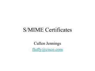 S/MIME Certificates