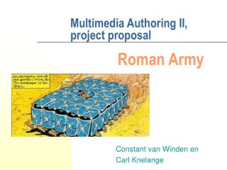 Multimedia Authoring II, project proposal