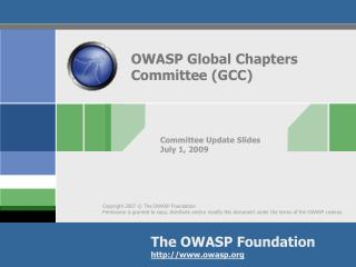 OWASP Global Chapters Committee (GCC)