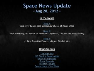 Space News Update - Aug 28, 2012 -