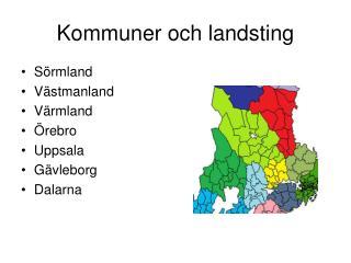 Kommuner och landsting
