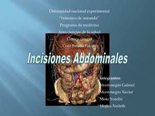 Universidad nacional experimental   francisco de miranda  Programa de medicina  rea ciencias de la salud  Cl nica cirug
