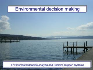 Environmental decision analysis and Decision Support Systems