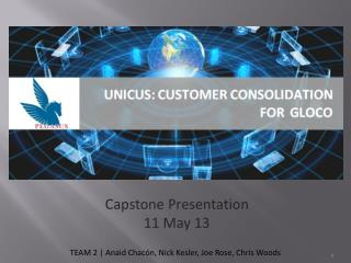 Capstone Presentation 11 May  13