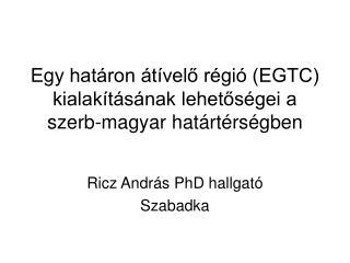 Egy határon átívelő régió (EGTC) kialakításának lehetőségei a szerb-magyar határtérségben