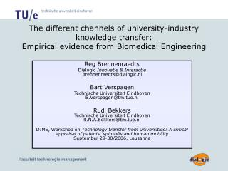 The different channels of university-industry knowledge transfer:  Empirical evidence from Biomedical Engineering
