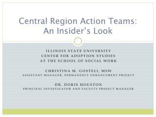 Central Region Action Teams: An Insider's Look