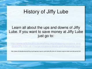 The short history of Jiffy Lube