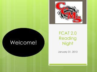 FCAT 2.0 Reading Night