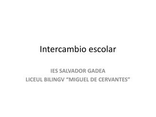 Intercambio escolar