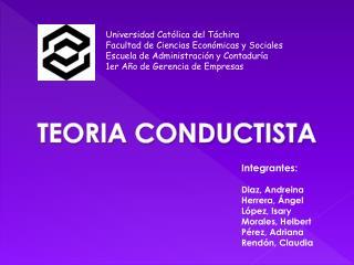 Universidad Católica del Táchira Facultad de Ciencias Económicas y Sociales Escuela de Administración y Contaduría 1er