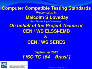 Malcolm S Loveday  Sept 2012