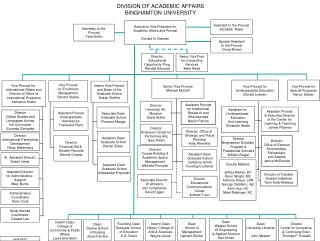 DIVISION OF ACADEMIC AFFAIRS BINGHAMTON UNIVERSITY