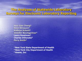The Analyses of Statewide Laboratory Surveys for Electronic Laboratory Reporting
