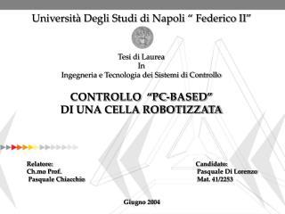 """Università Degli Studi di Napoli """" Federico II"""""""