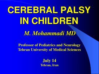 CEREBRAL PALSY IN CHILDREN