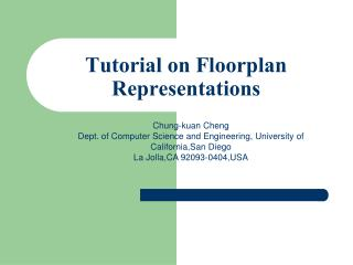 Tutorial on Floorplan Representations