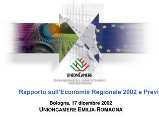 Rapporto sull'Economia Regionale 2002 e Previsioni 2003