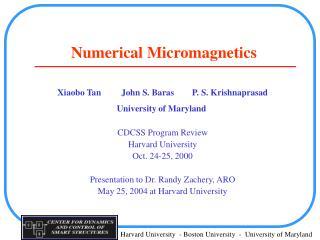Numerical Micromagnetics