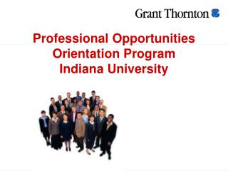 Professional Opportunities Orientation Program Indiana University