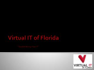 "Virtual IT of Florida ""Trusted Worry-Free IT"""